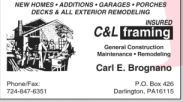 C&L Framing Logo