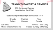 Tammies Bakery Logo
